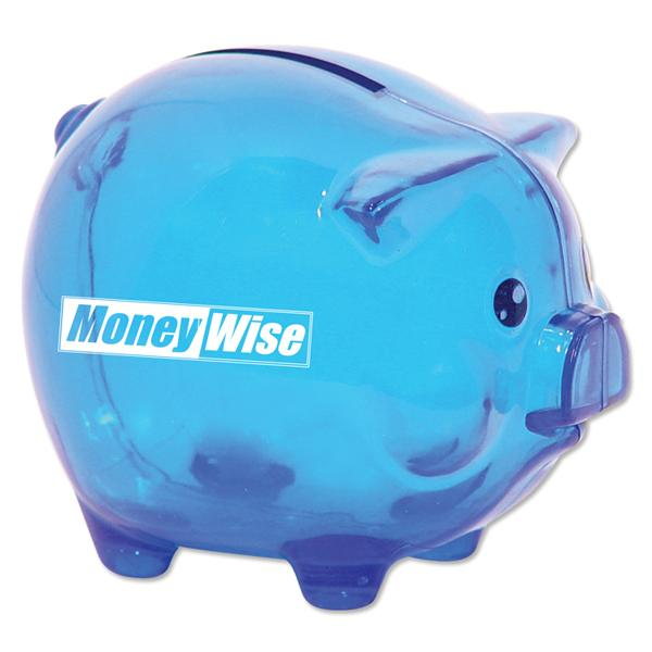 Customized Smash It Piggy Bank - Translucent Blue