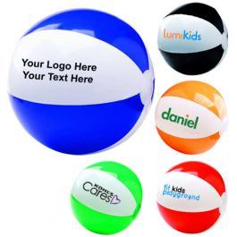 12 Inch Custom Imprinted Two-Tone Beach Balls