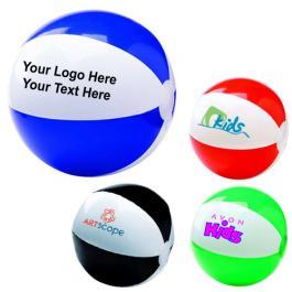 6 Inch Logo Imprinted Two-Tone Beach Balls
