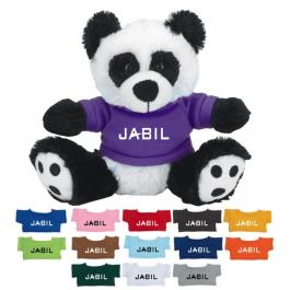 6 Inch Promotional Big Paw Panda with Shirts
