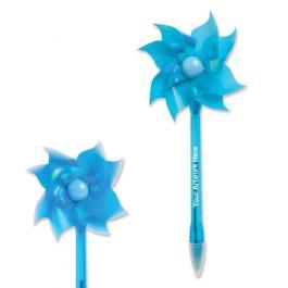 8.5 Custom Printed Wind Up Pinwheel Fan Pens