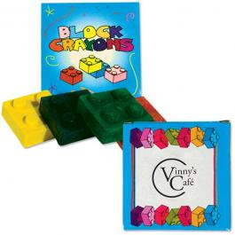 Customized 4 Pack Building Block Crayons