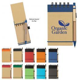 Custom Eco - Friendly Spiral Jotter & Pen