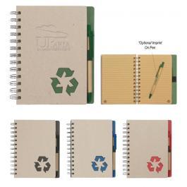 5 X 7 Inch Custom Eco - Rich Spiral Notebook & Pen