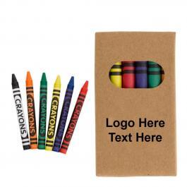 Custom Imprinted 6-Piece Crayon Set