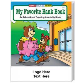 Custom Imprinted My Favorite Bank Coloring Books