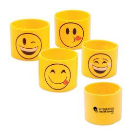 Custom Imprinted Plastic Emoticon Coils