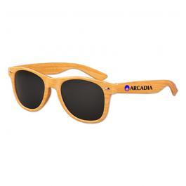 Custom Imprinted Wood Grain Oahu Sunglasses