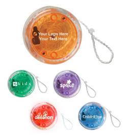 Custom Logo Imprinted Light Up Yo-Yo - 5 Colors