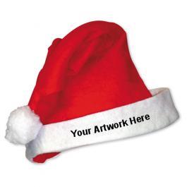 Custom Logo Imprinted Santa Hats