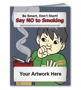 Custom Printed Coloring Book - Say NO To Smoking