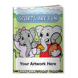 Custom Printed Coloring Book - Sports Are Fun