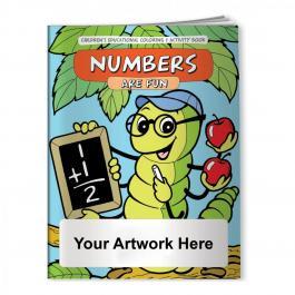 Custom Printed Coloring Books - Numbers are Fun