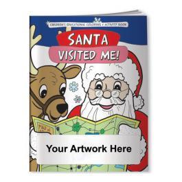 Custom Printed Coloring Books - Santa Visited Me!