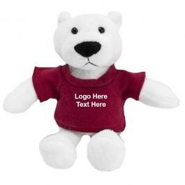 Custom Printed Mascot Plush Polar Bear