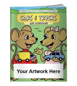 Customized Coloring Book - Cars & Trucks