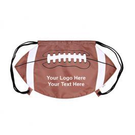 Customized GameTime Football Design Drawstring Backpacks