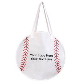 Logo Imprinted Rally Totes Baseball Tote Bags
