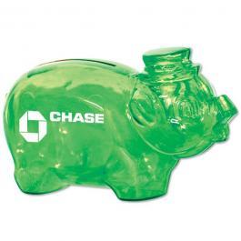 Customized Smash It Piggy Bank - Translucent Green