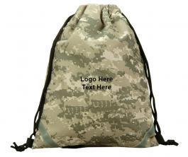 Promotional Digital Camo Kids Drawstring Backpacks