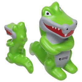 Promotional Logo Crocodile Mascot Stress Toys