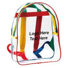 Promotional Logo Kids Clear Backpacks
