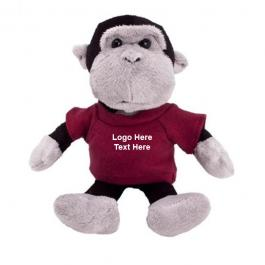 Promotional Logo Mascot Plush Gorilla Toys