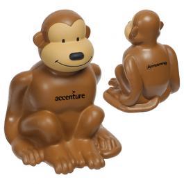Promotional Logo Monkey Stress Reliever Toys