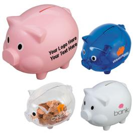Promotional Logo Piggy Shaped Banks